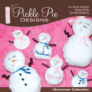 Pickle Pie Designs Snowman Collection Embroidery Designs CD