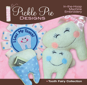 Pickle Pie Designs PPD3 Tooth Fairy Collection Embroidery Designs CD