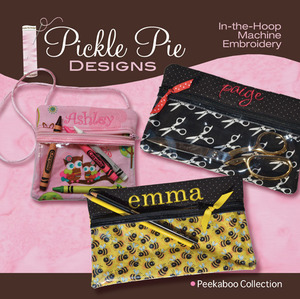 Pickle Pie Designs Peekaboo Collection Embroidery Designs CD
