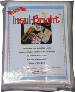 "Warm Company 1913 Insul-Bright 45""x1yd Needlepunched Insulated Lining for oven mitts, pot holders"