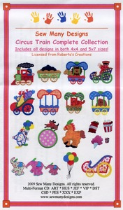 Sew Many Designs Circus Train Complete Applique Collection Multi-Formatted CD