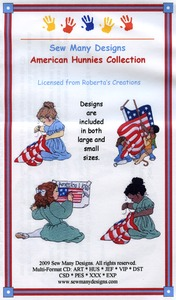 Sew Many Designs American Hunnies Applique Collection Multi-Formatted CD
