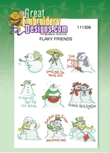 Great Notions 111306 Flaky Friends Designs Multi-Formatted CD