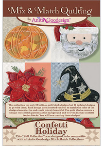 Anita Goodesign 230AGHD Confetti Holiday Embroidery Designs Pack on CD
