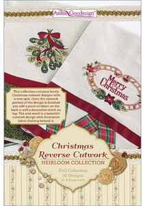 Anita Goodesign 229AGHD Christmas Reverse Cutwork  Multi-format Embroidery Design Pack on CD New Heirloom Full Collection