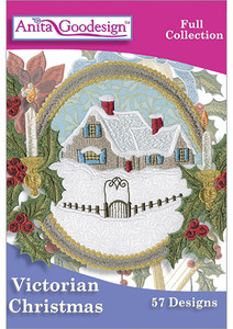 Anita Goodesign 228AGHD Victorian Christmas Multi-format Embroidery Design Pack on CD Full Collection 57 Designs