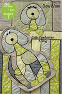 Olive Ann Designs Bow Wow Crib Comforter and Rug Sewing Pattern