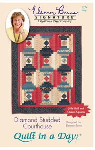 Quilt in a Day by Eleanor Burns Diamond Studded Courthouse Sewing Pattern