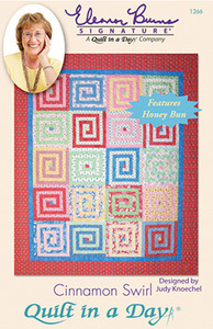 Quilt in a Day by Eleanor Burns Cinnamon Swirl Sewing Pattern