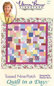 Quilt in a Day by Eleanor Burns Tossed Nine-Patch Sewing Pattern