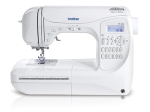Brother PC-420, ns80, ns-80,  pc420,   294-Stitch, Computer Sewing Machine, PC420, LCD, 10 Buttonholes, 3  Alphabet  Fonts, Knee Lifter, 6 Feed Dogs, Hard Case,   Replaces NX400