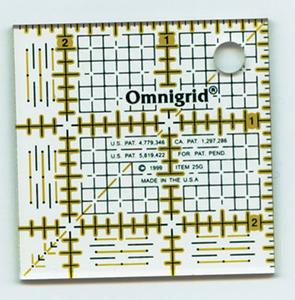 43291: Omnigrid OG25G, 2-1/2in Square Ruler