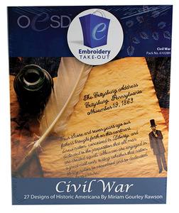 OESD 61028H Civil War Embroidery 27 Designs Multiformat CD by Miriam Gourley Rawson