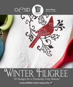 OESD 12367H Winter Filigree Design Collection Multiformat Embroidery Design CD