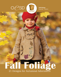 OESD 12361H Fall Foliage Design Collection Multiformat Embroidery Design CD