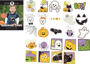 OESD 12357H Halloween Treats Design Collection Multiformat Embroidery Design CD