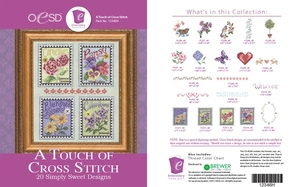 OESD 12346H A Touch of Cross-Stitch Design Collection Multiformat Embroidery Design CD