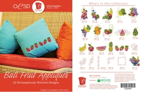 OESD 12344H Bali Fruit Appliques Design Collection Multiformat Embroidery Design CD