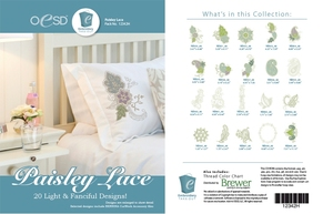 OESD 12342H Paisley Lace Design Collection Multiformat Embroidery Design CD