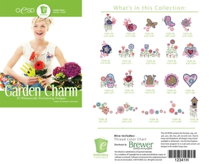 OESD 12341H Garden Charm Design Collection Multiformat Embroidery CD