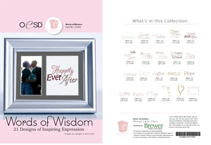 OESD 12336H Words of Wisdom Embroidery Designs and 21 Inspiring Expressions Collection CD