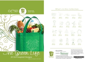 43379: OESD 12329H The Green Life Collection Multiformat 20 Embroidery Designs CD