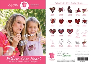 OESD 12328H Follow Your Heart Design Collection Embroidery Design CD