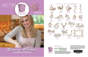 OESD 12325H Spring Kitchen 20 Designs Collection, Multiformat Embroidery Design CD