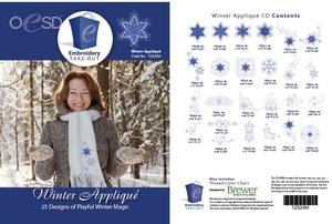 OESD 12324H Winter Applique Design Collection Multiformat Embroidery Design CD