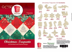 OESD 12317H Christmas Trapunto Design Collection Multiformat Embroidery Design CD