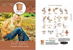 OESD 12314H Fall Glitz Design Collection Multiformat Embroidery Design CD