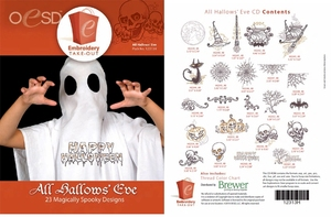 OESD 12313H All Hallow's Eve Halloween Multiformat Embroidery Design CD