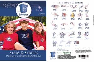 OESD 12302H Stars & Stripes Design Multiformat Embroidery Design CD