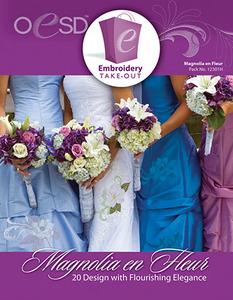 OESD 12301H Magnolia en Fleur Design Multiformat Embroidery Design CD