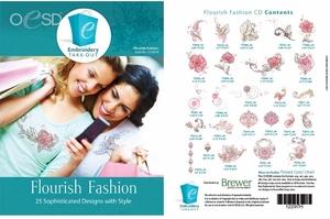 OESD 12297H Flourish Fashion Design Multiformat Embroidery Design CD