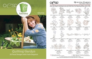 OESD 12284H Quilting Garden Multiformat Embroidery Design CD