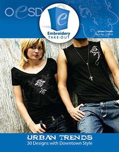 OESD 12281H Urban Trends Design Multiformat Embroidery Design CD