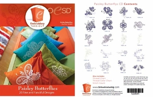 OESD 12280H Paisley Butterflies Design Multiformat Embroidery Design CD