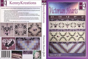 Kenny Kreations Victorian Hearts Quilt Multiformat Embroidery Design CD