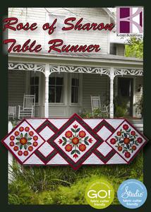 43461: Kenny Kreations KKROSTR Rose of Sharon Table Runner Multiformat Embroidery Design CD