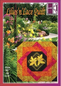 Kenny Kreations Lilies 'n' Lace Quilt Multiformat Embroidery Design CD