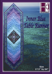 Kenny Kreations Inner Blue Table Runner Multiformat Embroidery Design CD