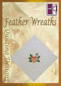 43476: Kenny Kreations KKFWQ Feather Wreaths Quilt Block Embroidery Design CD