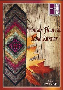 Kenny Kreations Crimson Flourish Table Runners Multiformat Embroidery Design CD