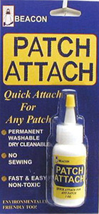 43486: Beacon PATCHGLUE Patch Attach Fabric Glue, Permanent Washable, Dry Cleanable, Non Toxic, Fast & East No Sewing, Environmentally Friendly Too
