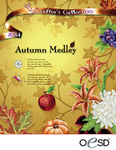 OESD Autumn Medley CD Multiformatted Embroidery Design CD