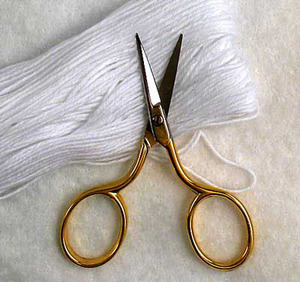43580: Tooltron TT00069 Short Stuff Small 2-1/2in Italian-Made Embroidery, Thread Trimming, Smallest Metal Scissors