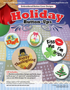 Hope Yoder HY7115 Holiday Button Ups 23 Designs Embroidery CD