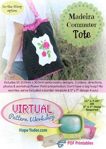 Hope Yoder HY4170 Madeira Commuter Tote Pattern Design Workshop CD