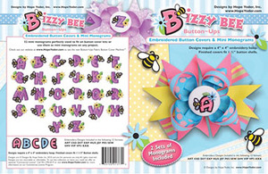 Hope Yoder 56/2414 Bizzy Bee Button Ups 52 Monograms Emb Designs CD